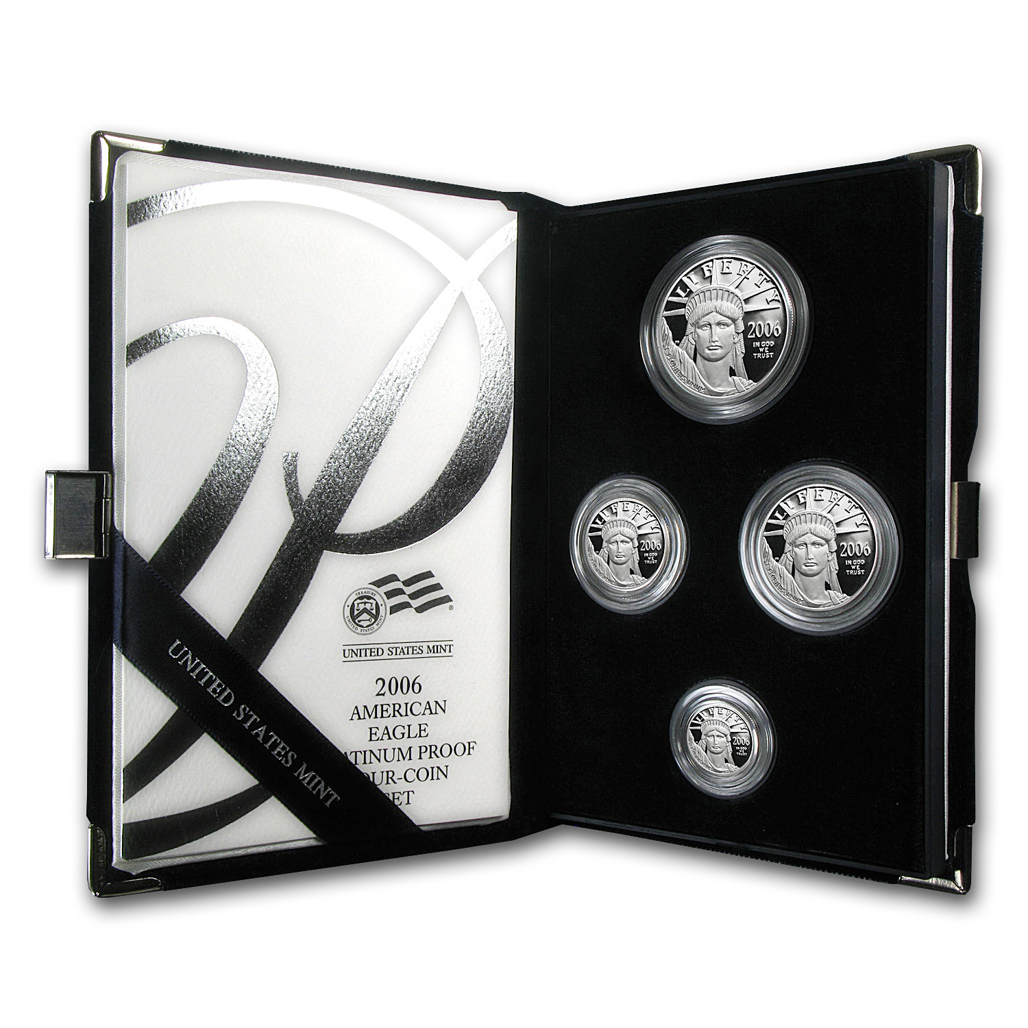 2006-W 4-Coin Proof Platinum American Eagle Set (w/Box & CoA)